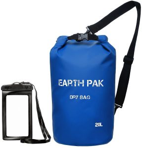 Waterproof Dry Bag | Earth Pak | Gifts for Travelers | Gifts for Boaters | Gifts for adventure Travelers | drybag