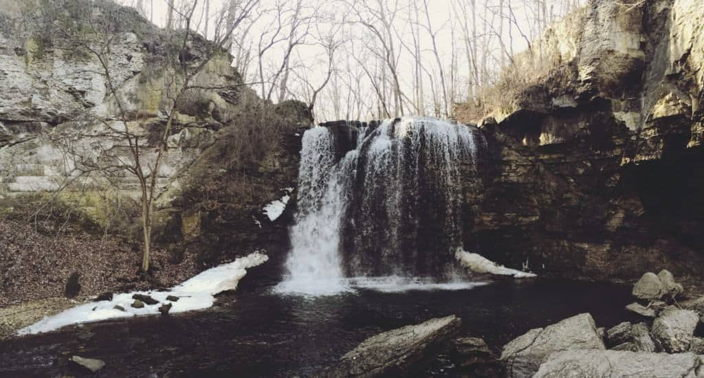 waterfall in columbus ohio