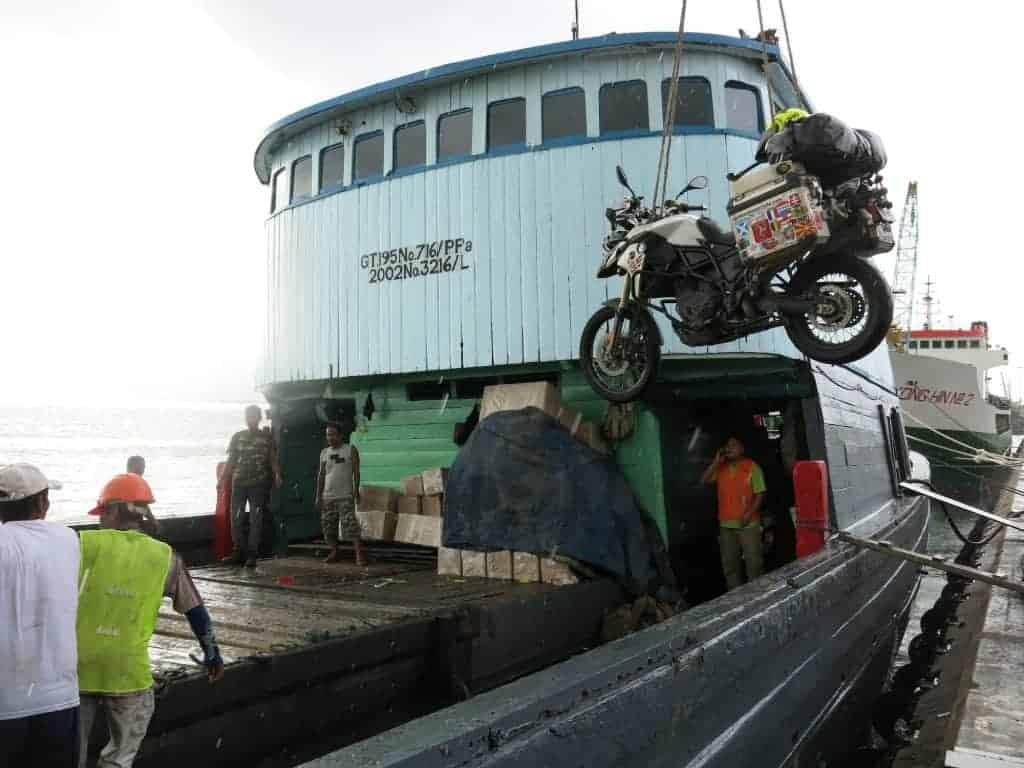 Shipping a motorcycle in Indonesia