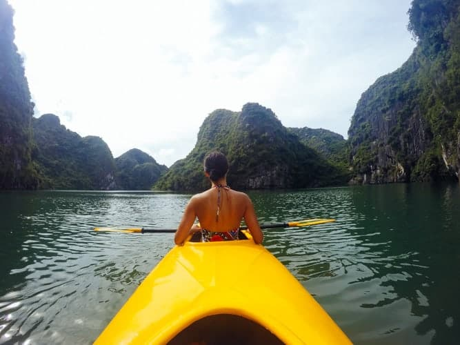 Kayaking in Pai, Thailand