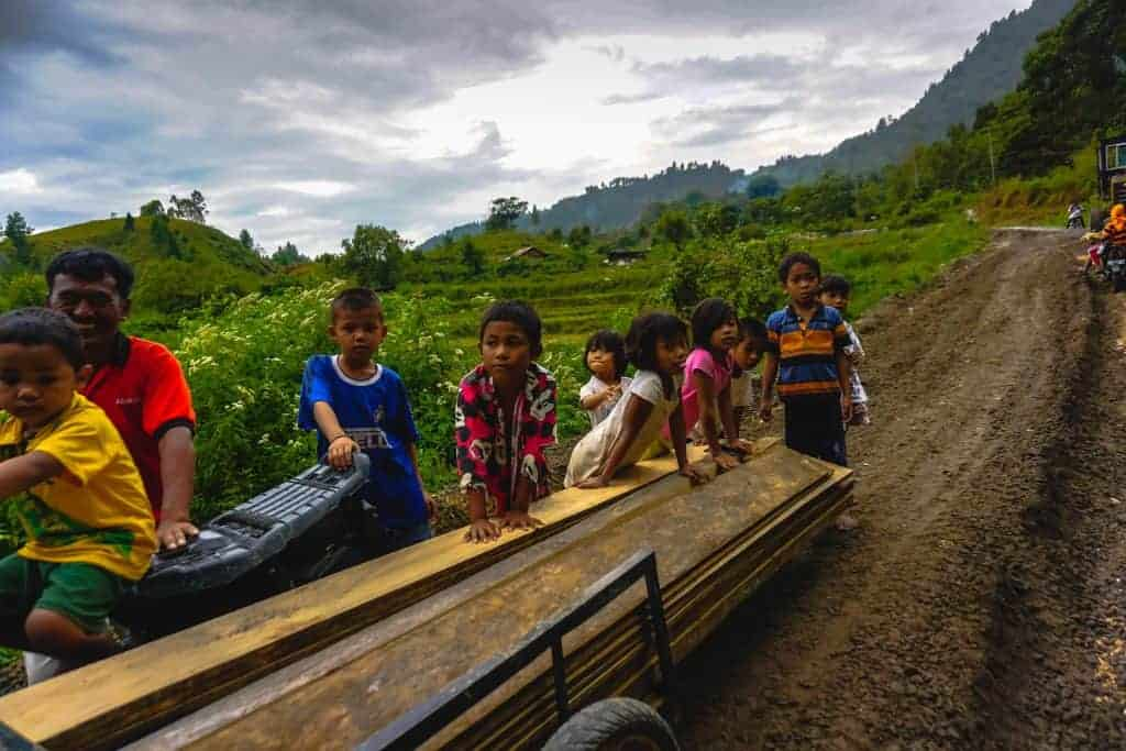 Kids in North Sumatra