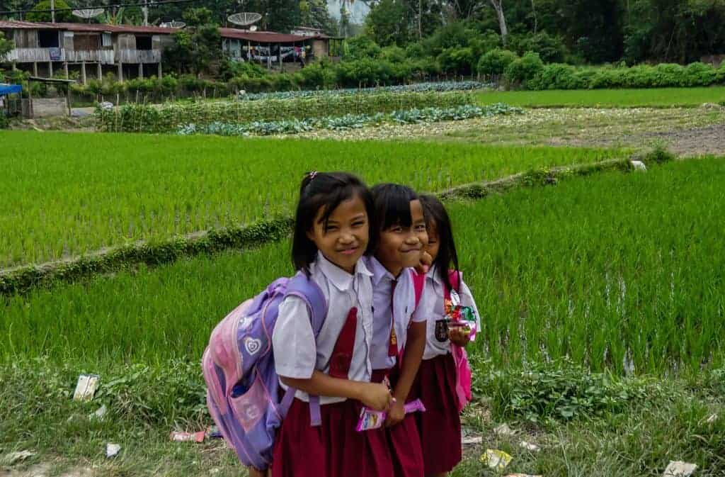 School Children in North Sumatra, Indonesia