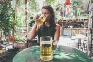 drinking beer at ruin bars in budapest