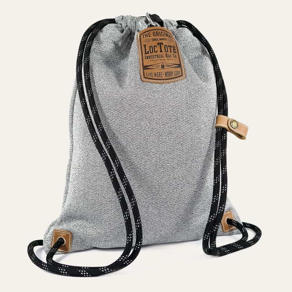 LOCTOTE Flak Sack II - Lightweight Theft-Resistant Drawstring Backpack