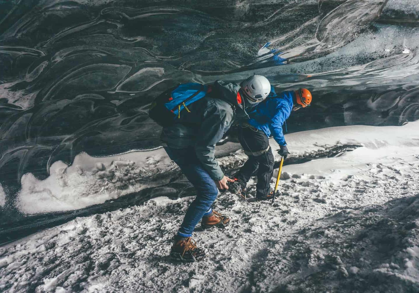 Ice caving in Vik iceland